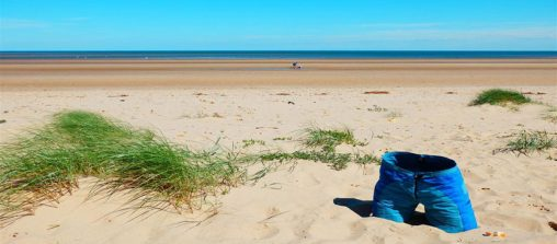 Brancaster beach Norfolk - self portrait