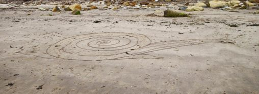 Found sand drawing on North Yorkshire beach