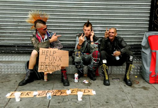 Camden Town punks in London 2017