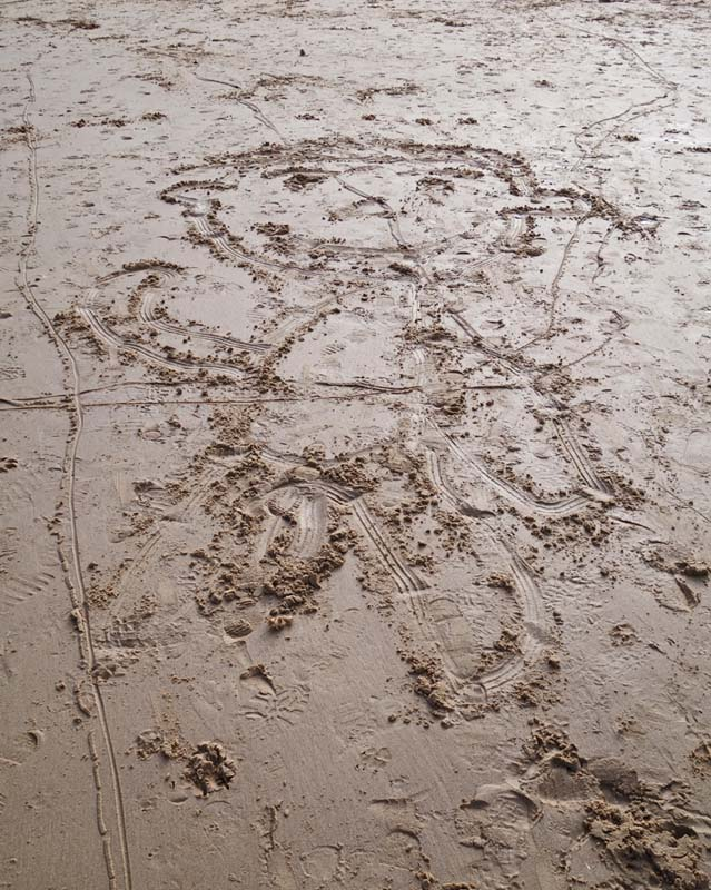 Found sand drawing on North Norfolk beach