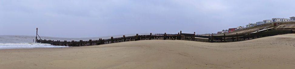 Waves at Walcott beach Norfolk