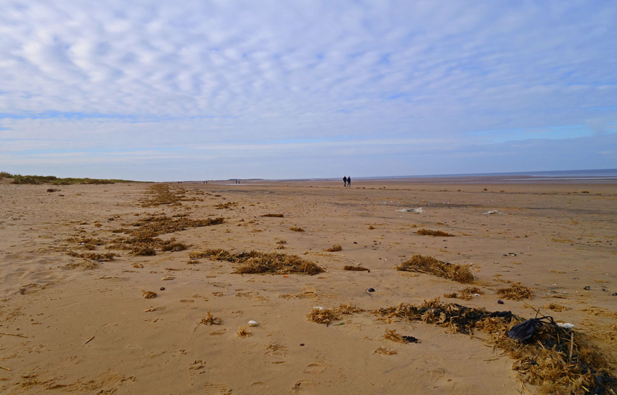 Bag of dog shit on Brancaster beach Norfolk #2