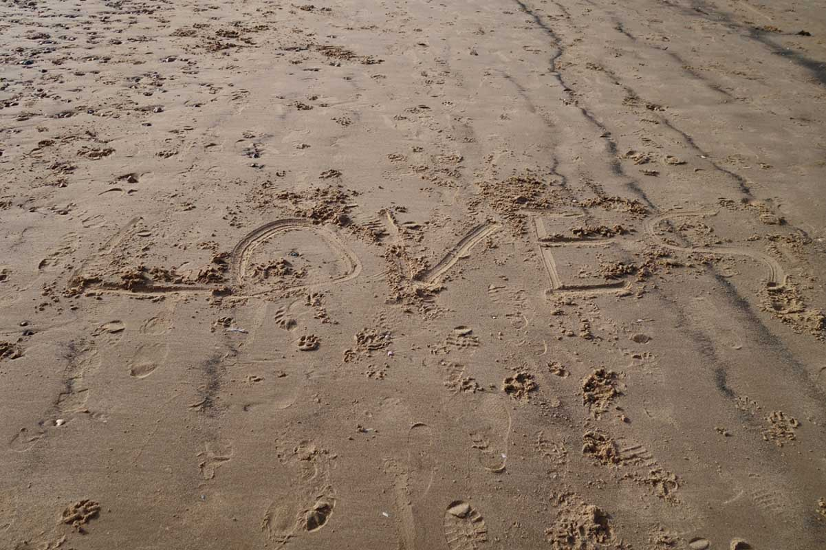 Found sand drawing on North Norfolk beach