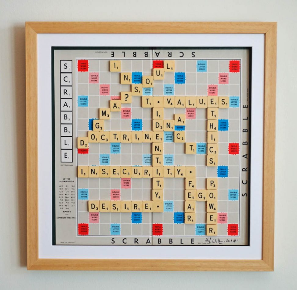 Scrabble search for identity